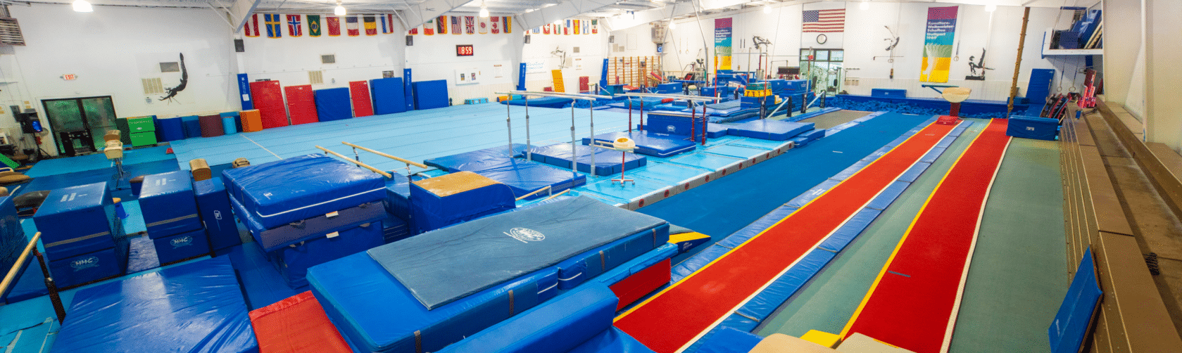 Gymnasium with mats